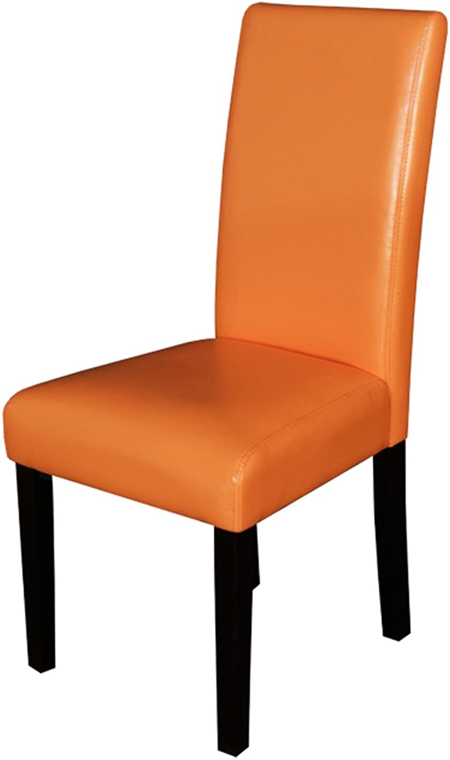 Monsoon Pacific 222209 Villa Faux Leather Dining Chairs, Sunrise orange