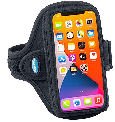 Tune Belt AB91 Cell Phone Armband Holder Case for iPhone 12/12 Pro, 11, 11 Pro Max, XS...