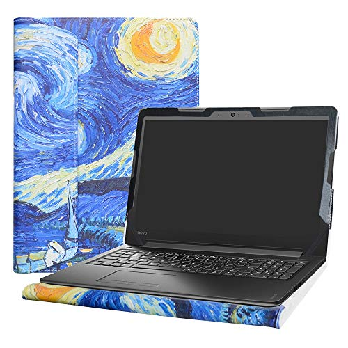 Alapmk Diseñado Especialmente La Funda Protectora de Cuero de PU para 15.6' Lenovo IdeaPad 310 15 310-15ABR 310-15ISK 310-15IKB & IdeaPad 510 15 510-15isk 510-15ikb Ordenador portátil,Starry Night