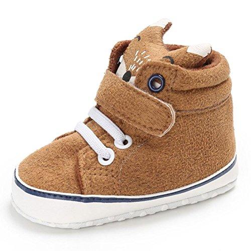 FNKDOR Baby Mädchen Jungen Fuchs Lauflernschuhe rutschfest Canvas Schuhe Stiefel (0-6 Monate, Kaki)