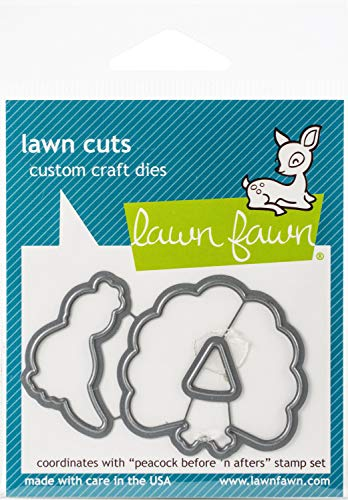 Lawn Fawn Dies - Peacock Before 'n Afters (LF1961)