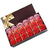 szdc88 18 Stück handgemachte Rose duftende Badeseife,Rose Seife Blume handgemachte Rose duftende...