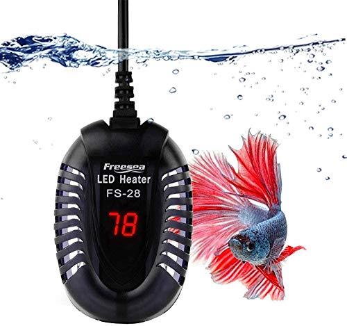 FREESEA Aquarium Heater Fish Tank Submersible Heater (50W/75W/100W) with LED Temperature Display (300Watt for 35-50 Gallon Tank)
