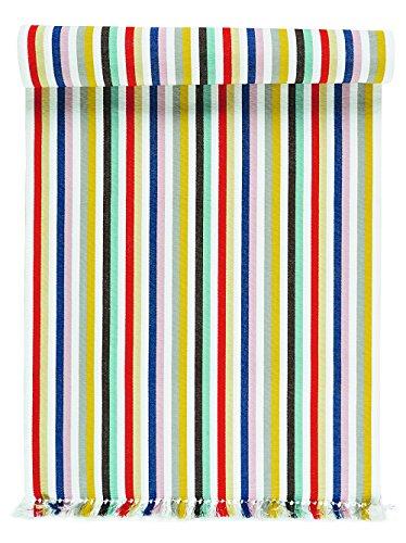 Linum Tischläufer bunt gestreift 45x150 cm aus Baumwolle (Yoko)