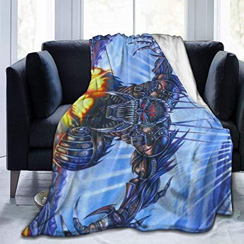 Merryfull Judas Priest Ju-gulator Ultraweiche Micro Fleece Decke Anti-Pilling Flanell Schlafkomfort Superweiche Decke für Schlafzimmer Couch Stuhl Wohnzimmer 60 'x 50'