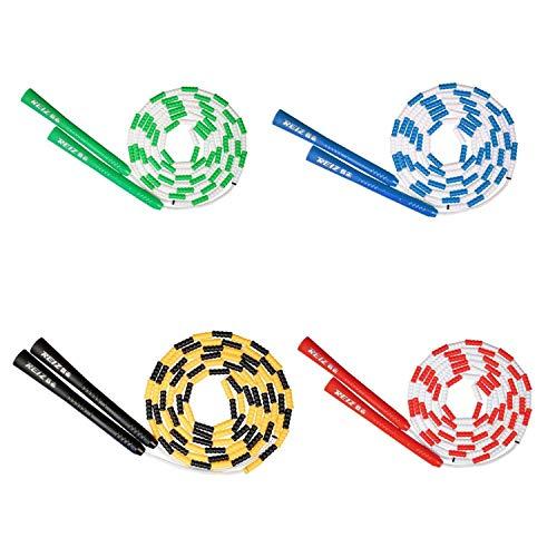 Lovely-Star Jump Rope Kinder-Springseil aus weichem Kunststoff, mit Perlen, segmentiert, kein Verknoten, gelb, Einheitsgröße