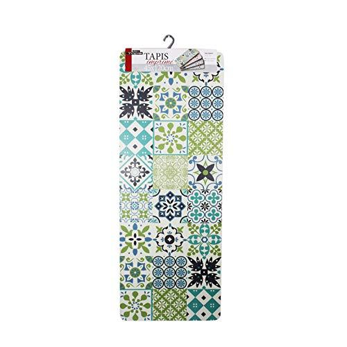 douceur d'intérieur tapis rectangle 45x120 cm mousse salou vert