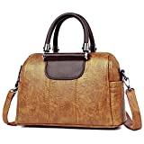 Top Handle Handbag for Women - Vegan Leather Ladies Shoulder Bag
