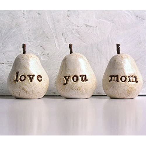 Gift For MomWhite Love You Mom PearsGreat Handmade Mothers Day