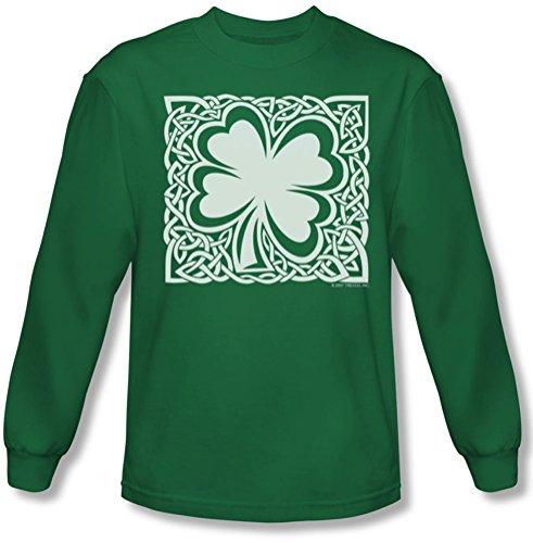 Celtic Clover - Tee-shirt Homme En Vert, Large, Kelly Green