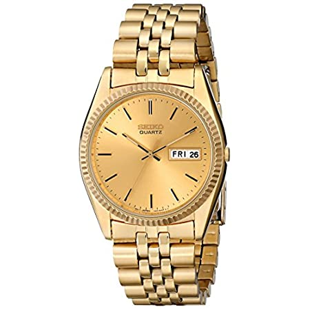 Fashion Shopping Seiko Men's SGF206 Gold-Tone Stainless Steel Dress Watch