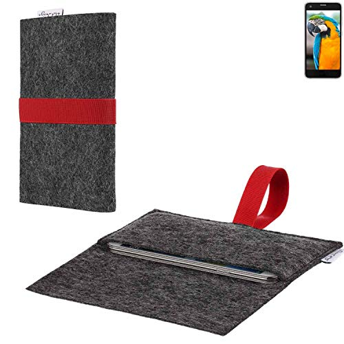 flat.design vegane Handy Hülle Aveiro für Vestel V3 5040 passgenaue Filz Tasche Case Sleeve Made in Germany