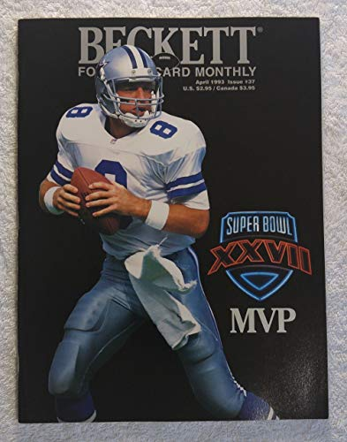 Troy Aikman - Dallas Cowboys - Super Bowl XXVII MVP - Beckett Football Card Monthly Magazine - #37 - April 1993 - Back Cover: Cortez Kennedy (Seattle Seahawks)