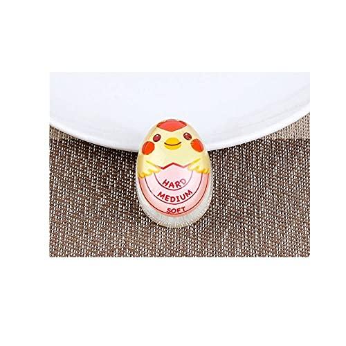 Liu Yu·casa creativa Temporizador de Cocina 2 Packs Soft Huevo Hervido Color Cambio Temporizador Herramienta de Cocina Herramientas de Resina HuevoHuevos Hard-Hervidos Artefacto, Chick Pink,Large
