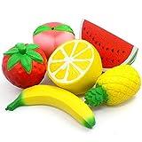 6PCS Jumbo Squishies Slow Rising Strawberry Peach...