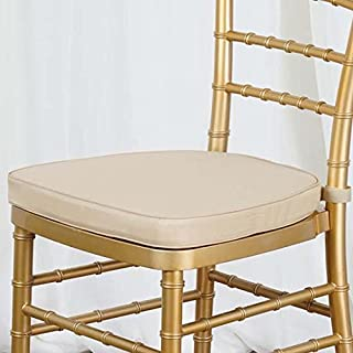 Efavormart Gold Chiavari Chair Cushion Chair Pad with Attachment Straps Party Event Decoration - 2