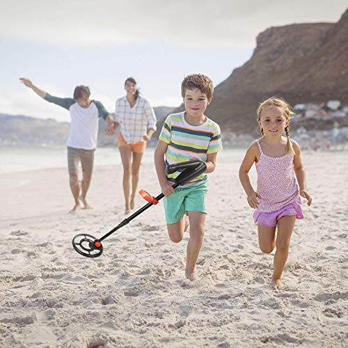 Viewee Lightweight Metal Detector for Kids and Beginners with Waterproof Search Coil & LCD Display & Shovel as Indoor Family Leisure