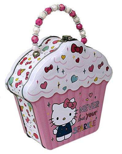 The Tin Box Company Hello Kitty Cupcake Shape Tin Purse 693607-12