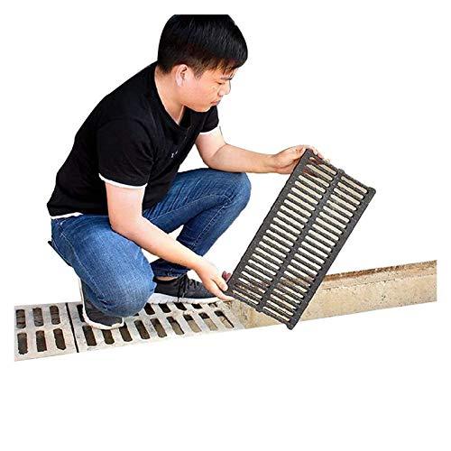 Drenaje de canal de drenaje Drenaje de piso, jardín de caduca de cálculo anti-obstrucción Material de polímero antideslizante impermeable impermeable colador extraíble, 6 tamaños para jardín de jardín