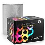 Framar Star Struck Silver Embossed Roll Aluminum Foil, Hair Foils For Highlighting - Medium 320 ft