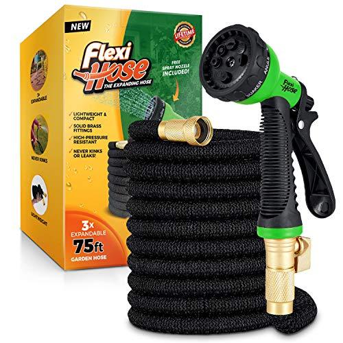 Flexi Hose Upgraded Expandable Garden Hose, Extra Strength, 3/4' Solid...