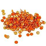 Ornerx Flat Push Pins Decorative Thumbtacks for Cork Orange 200 Count