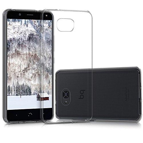 REY Funda Carcasa Gel Transparente para BQ AQUARIS U2 / BQ AQUARIS U2 Lite, Ultra Fina 0,33mm, Silicona TPU de Alta Resistencia y Flexibilidad