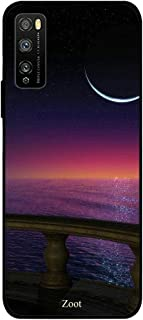 ZOOT Protective Printed Case Cover For Huawei Enjoy 20 Pro Night Red Sky And Moon,Thermoplastic Polyurethane Slim fit Clea...