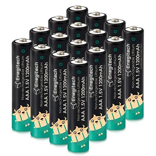 Enegitech AAA Lithium Batteries New (Black+Green)