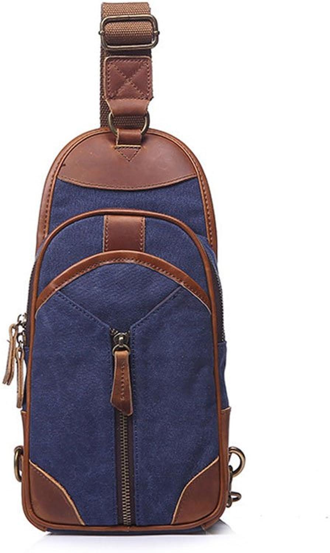 Jxth Freizeit Durable Tagesrucksack Einfache Retro Zipper Zipper Zipper Canvas Brust Umhängetasche Messenger Bag Farbe  Blau Für Reisen Outdoor Sport Gym B07GLCJJ7D  Stilvoll und lustig 8000a7