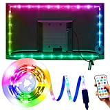 Tira LED TV 3M, OMERIL Luces LED TV RGB con 21 Modos y 16 Colores, Tiras LED USB con...