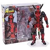 Modelo de Anime Revoltech Deadpool PVC Figuras de acción Juguetes de Modelos coleccionables 15cm