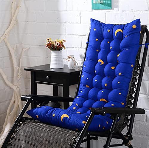 KTYRONE Silla Mecedora Cojines de Almohadillas, Cojín reclinable de Cacahuete de Cacahuetes Largos de Columpio para sillones para sillones, Patio al Aire Libre Lounge Banco,Azul,48x125cm(19x49inch)