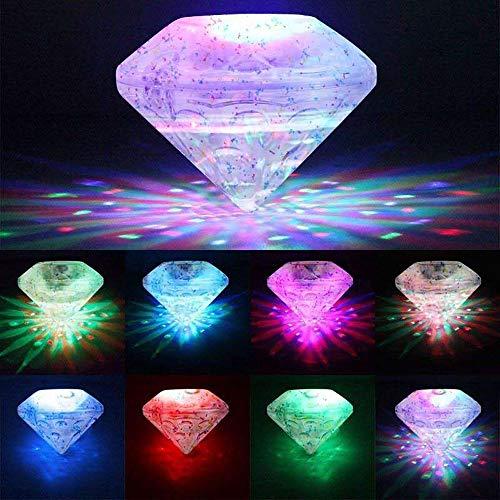 Twshiny 6 LED-Licht Spielzeug Wasserdicht Lustige Bad die Wanne LED-Leuchten Spielzeug für für Badewanne Badezimmer Party Entertainment Dekoration