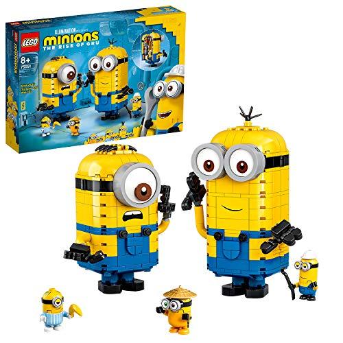 LEGO Minions PersonaggiMinionselaloroTana, Set di Costruzioni da Esporre con Figure di Stuart, Kevin e Bob, 75551