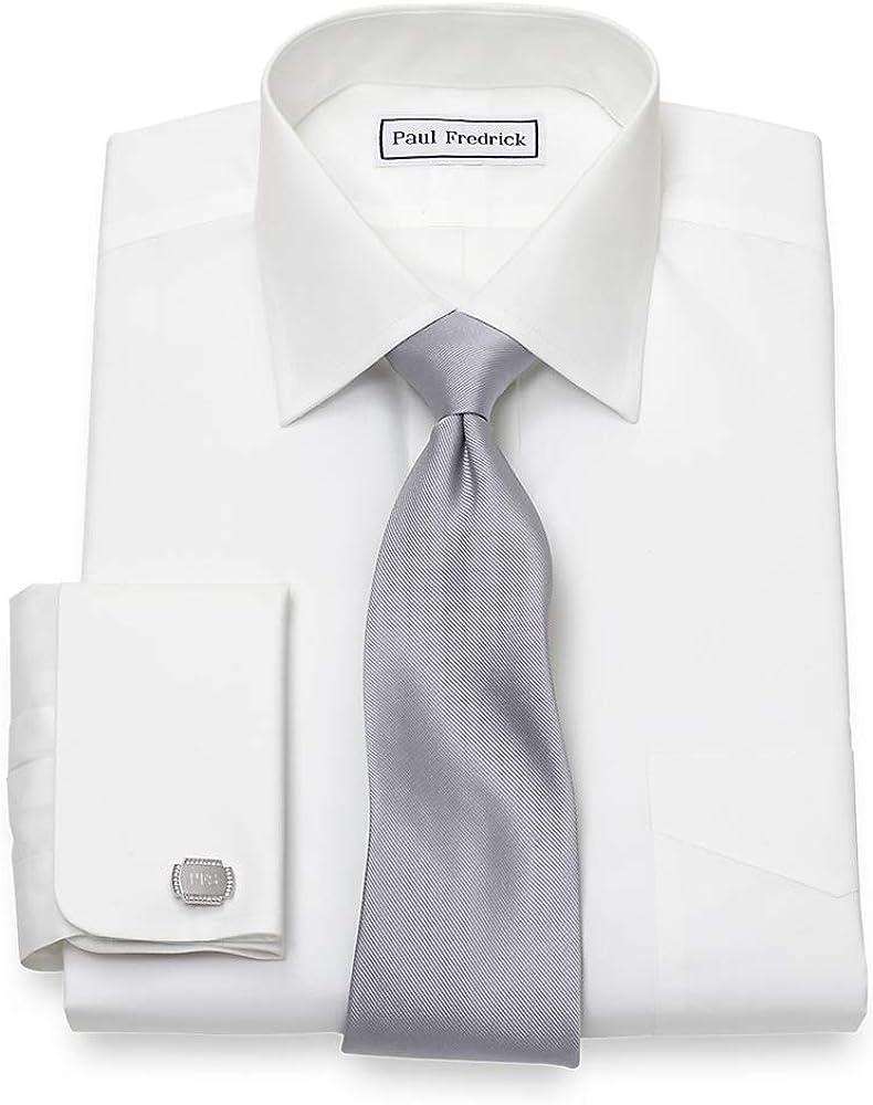 Paul Fredrick Men's Slim Fit Non-Iron Supima Cotton Windsor Collar Dress Shirt