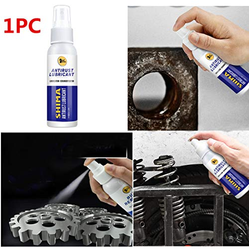 Bokeley Metal Protectant & Anti-Rust Lubricant,Metal Surface Chrome Paint Car Maintenance Iron Powder Cleaning Rust Remover,Heavy Duty Rust & Corrosion Inhibitor Aerosol Spray (Multicolor)