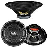PYRAMID WH12 Altavoz de Graves 30.00 cm 300 mm 12' 250 vatios rms 500 vatios impedancia máxima 8 ohmios Fiesta en casa Disco Fiesta Karaoke, 1 Pieza