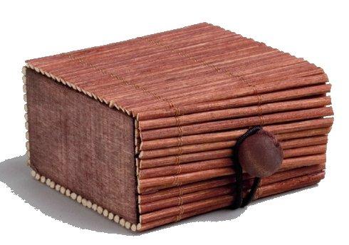 Deininger Mariage Sachet DE 2 Coffres Bambou, Chocolat