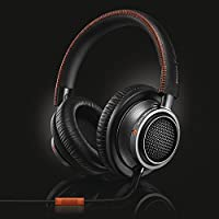 Fidelio L2 Over-ear Premium Portable Headphones with In-line Mic, Noise Isolation, Hi-Res - Black/Orange (L2BO)
