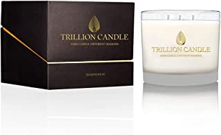 Trillion Candle, 3-Wick Candle with 14K Yellow Gold Diamond Necklace Inside, 26oz,150 Hour Burn Time (Mandarin 42)