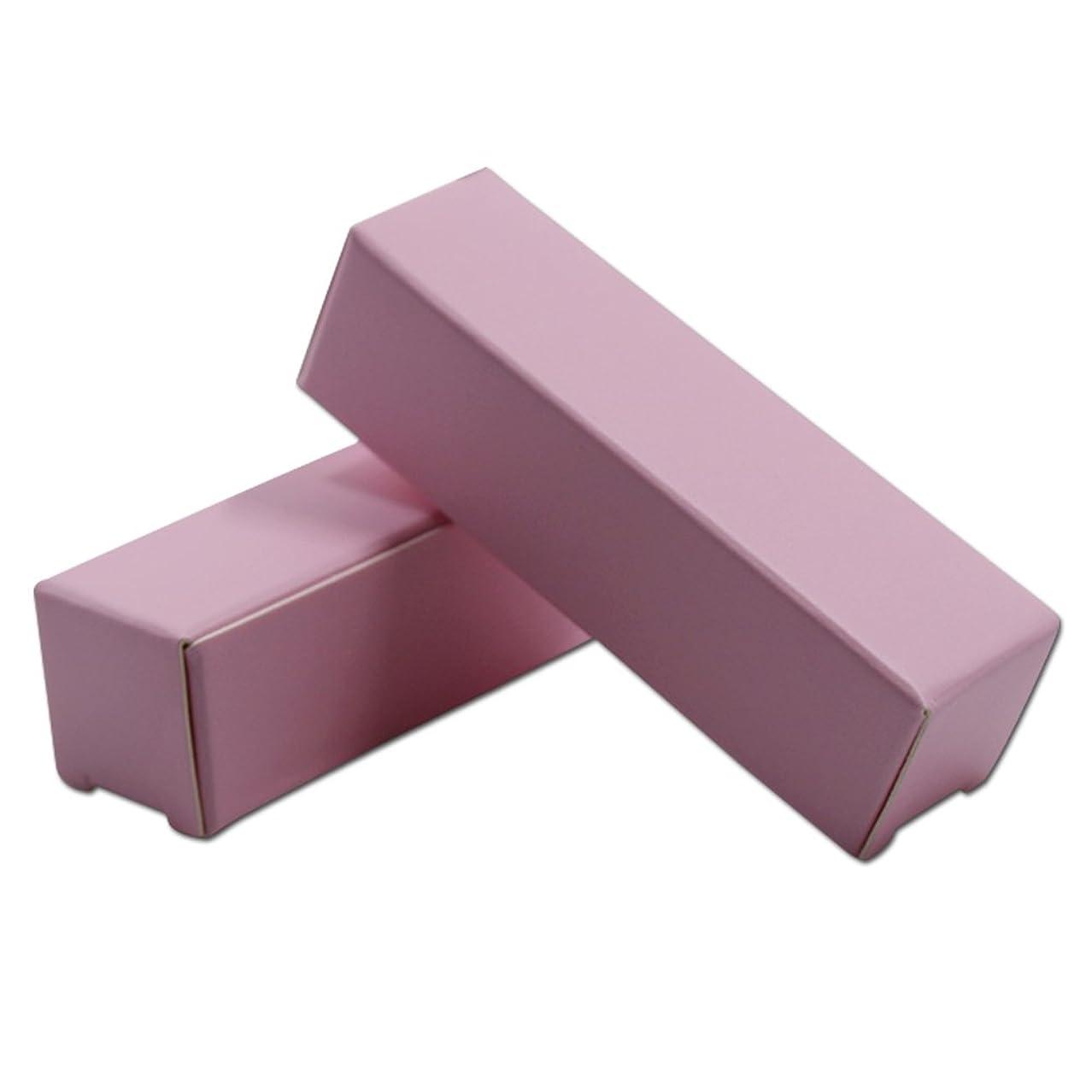 うっかりに向けて出発クスコ口紅 ケース DIY リサイクル可能 クラフト紙箱 リップスティック 折り畳み式 包装用化粧箱 メイクアップ ツールクラフト紙 エッセンシャルオイルクリームボトルギフト 100個 (ピンク) (2*2*8.5cm)