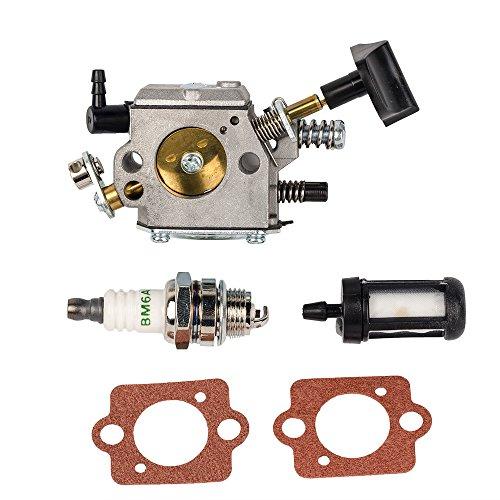 Bijenkorf Filter Carburateur carb met Pakking Spark Plug Brandstoffilter voor Stihl SR320 SR340 SR380 SR400 SR420 BR320 BR340 BR380 BR400 BR420 Rugzak Blowers