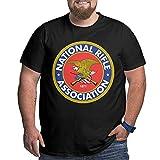 NRA National Rifle Association Logo T Shirt Funny Big Size Men's T-Shirts Short Sleeve T-Shirt Round Neck Tee Shirts Black