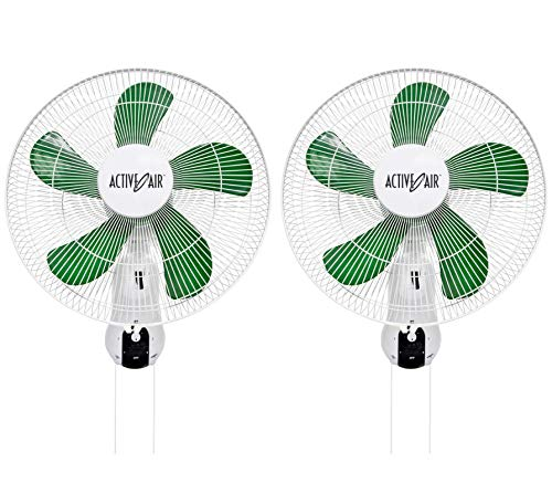 HYDROFARM Active Air Wall Mountable Oscillating Fans