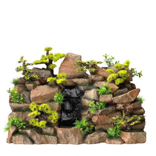 Aqua Della Aquariumdekoration Waterfall Rock-Scape Giant, 1 Way