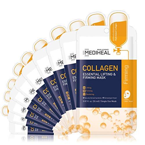 MEDIHEAL Official [Korea's No 1 Sheet Mask] - Collagen Essential Lifting & Firming Mask (10 pack)