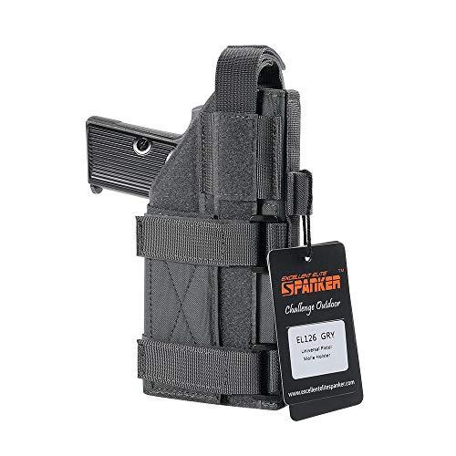 Excellent Elite SPANKERTaktische verstellbare Pistolenhalfter für M1911 G17 G18 G19 G26 G34 XD-45acp CZ P-10C(Grau)