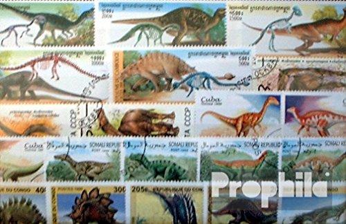 Prophila Collection Motivazioni 100 Diversi Dinosaur Francobolli (Francobolli per i Collezionisti) Anfibi / rettili / Dinosauro