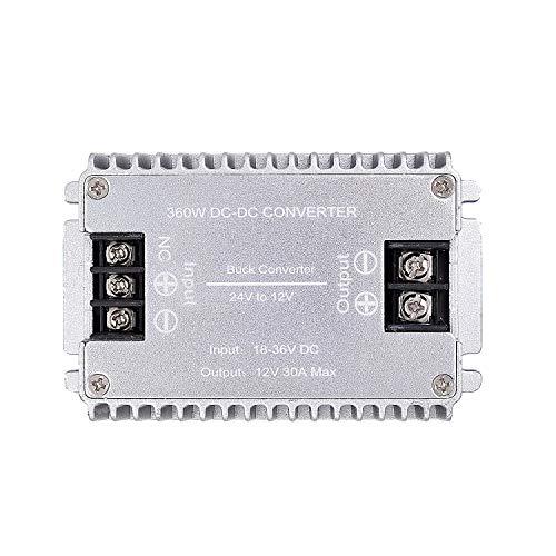 Valefod DC zu DC Hocheffizienter Spannungswandler 24 V auf 12 V 30 A 360 W Buck Converter DIY Netzteil Step Down Transformator